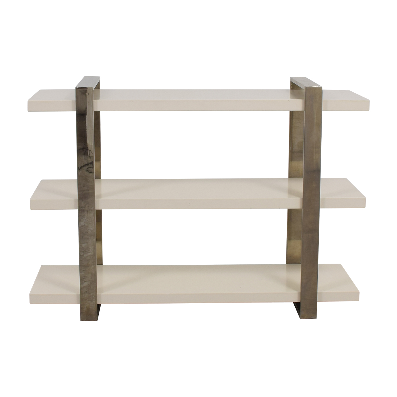 buy West Elm West Elm Three-Shelf Modern White Bookshelf online