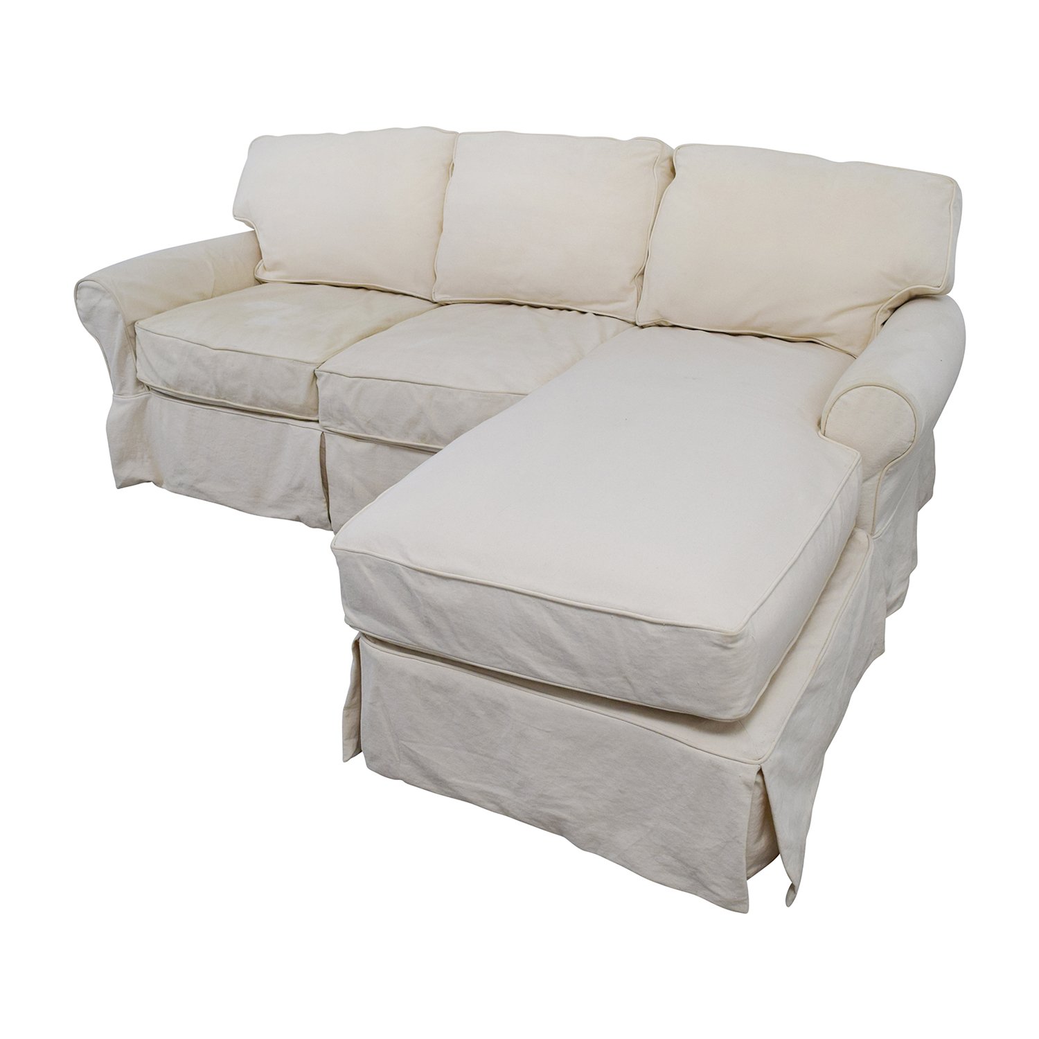 ... Shop Home Decorators Collection Home Decorators Collection Mayfair  White Sectional Online ...