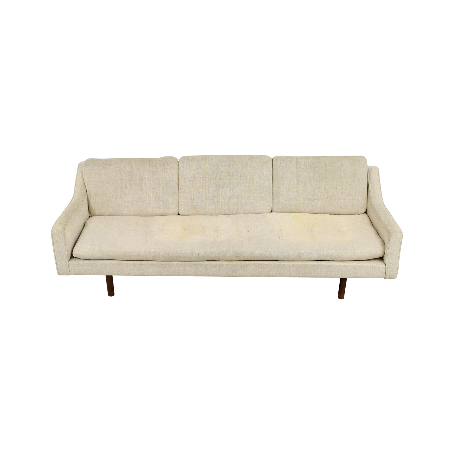Exceptionnel ... Buy Vintage Mid Century White Single Cushion Sofa Classic Sofas ...