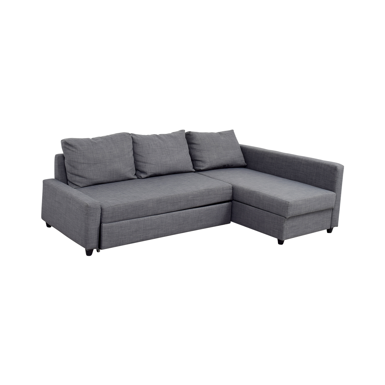 Ikea Grey Sleeper Chaise Sectional
