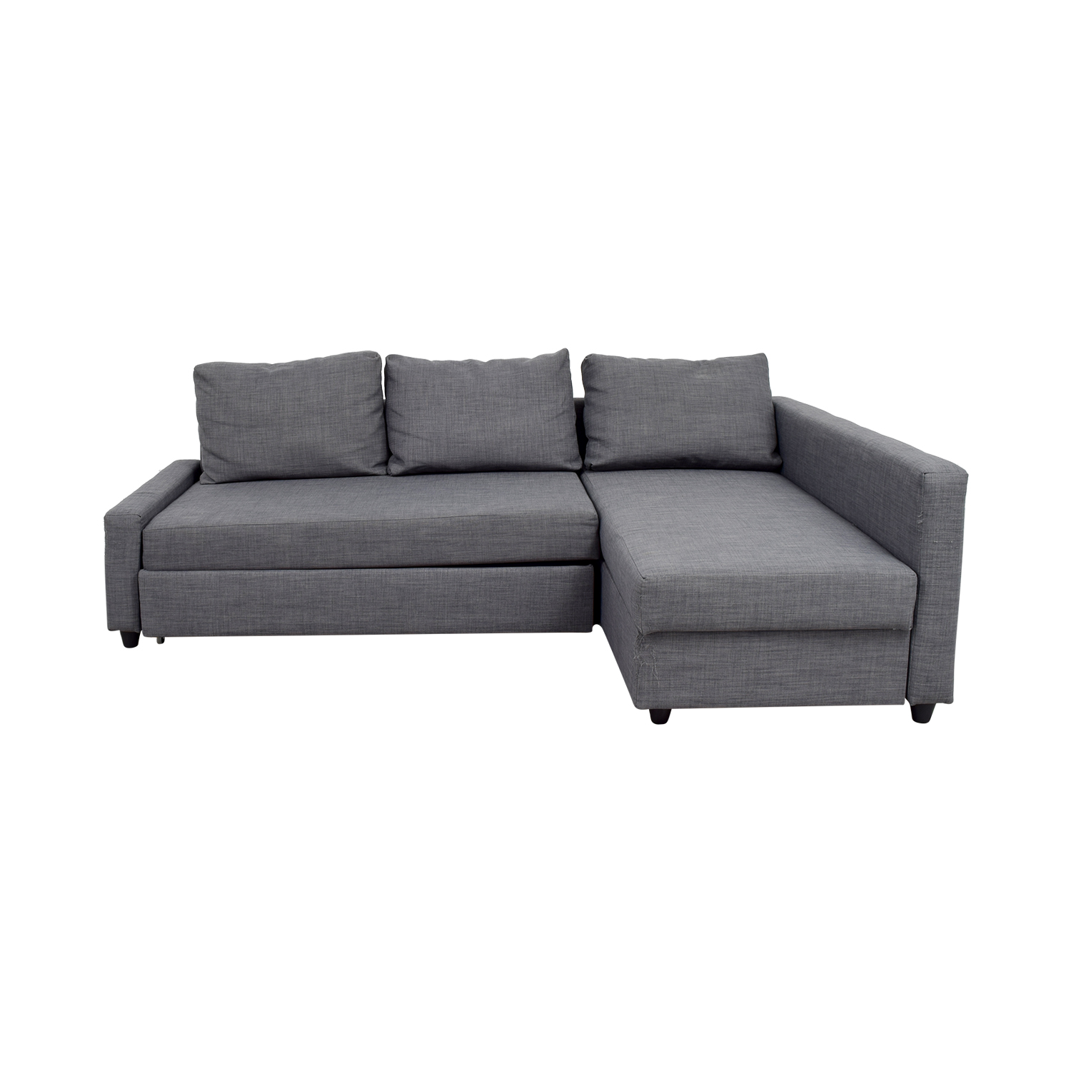huge discount 540da 17ce2 41% OFF - IKEA IKEA Grey Sleeper Chaise Sectional / Sofas