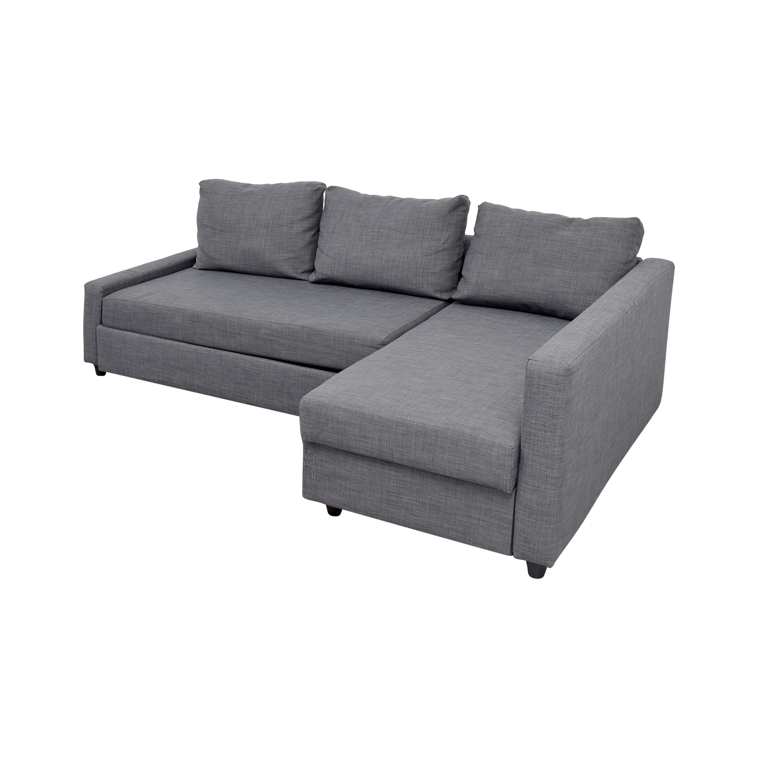 41 off ikea ikea grey sleeper chaise sectional sofas for Ikea gray sofa