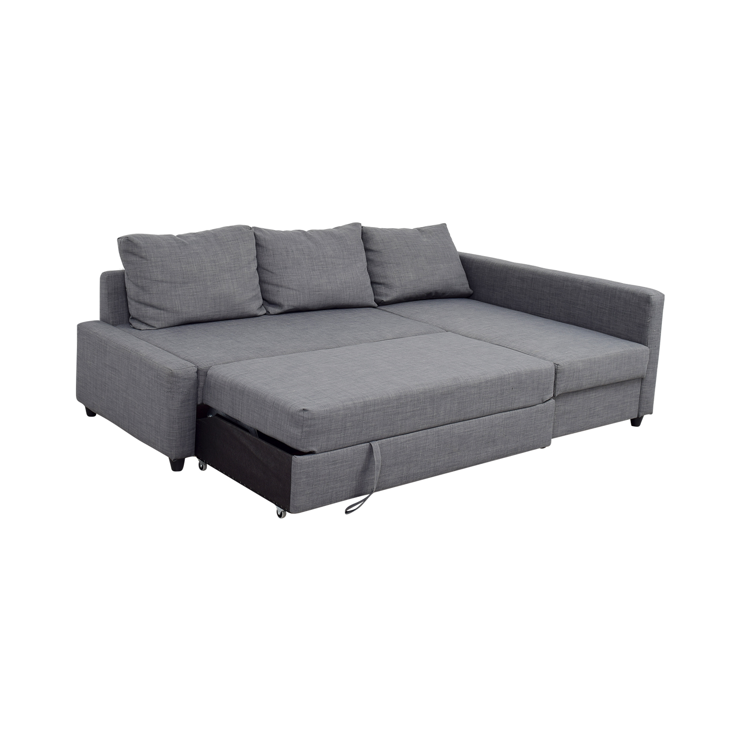 41 off ikea ikea grey sleeper chaise sectional sofas for Table chaise ikea