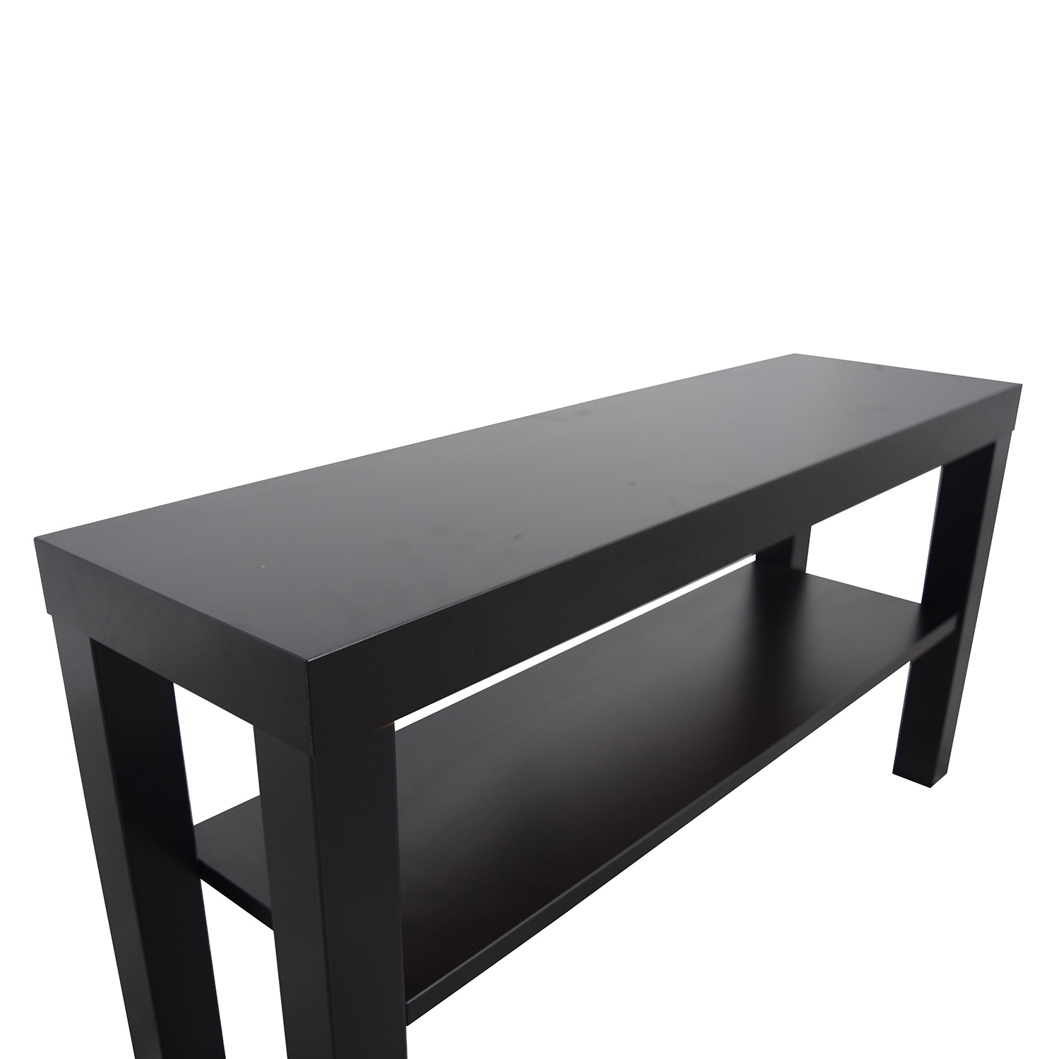 59 off ikea ikea lack black tv stand storage - Ikea table tv ...