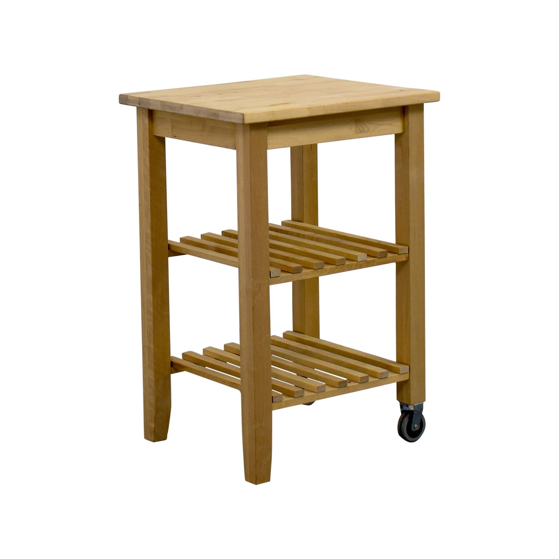 ... Utility Tables; IKEA IKEA Kitchen Cart Light Brown ...