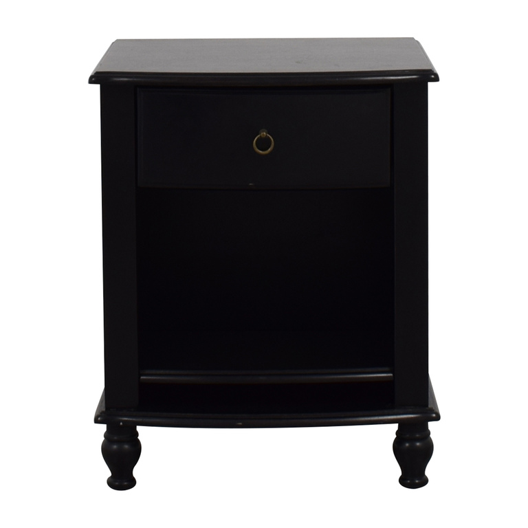 Pottery Barn Pottery Barn Black Nightstand for sale
