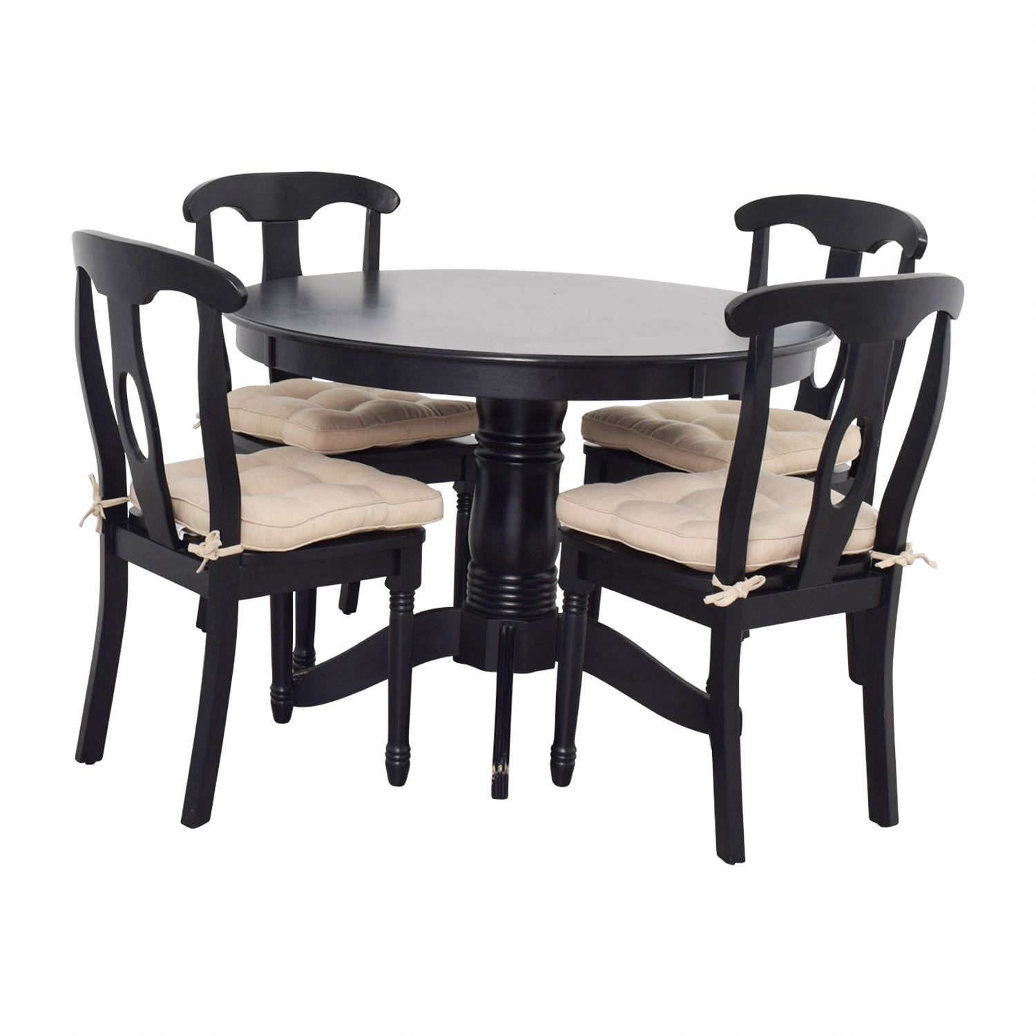 54 off martha stewart martha stewart dining set with beige upholstered chairs tables - Martha stewart dining room furniture ...