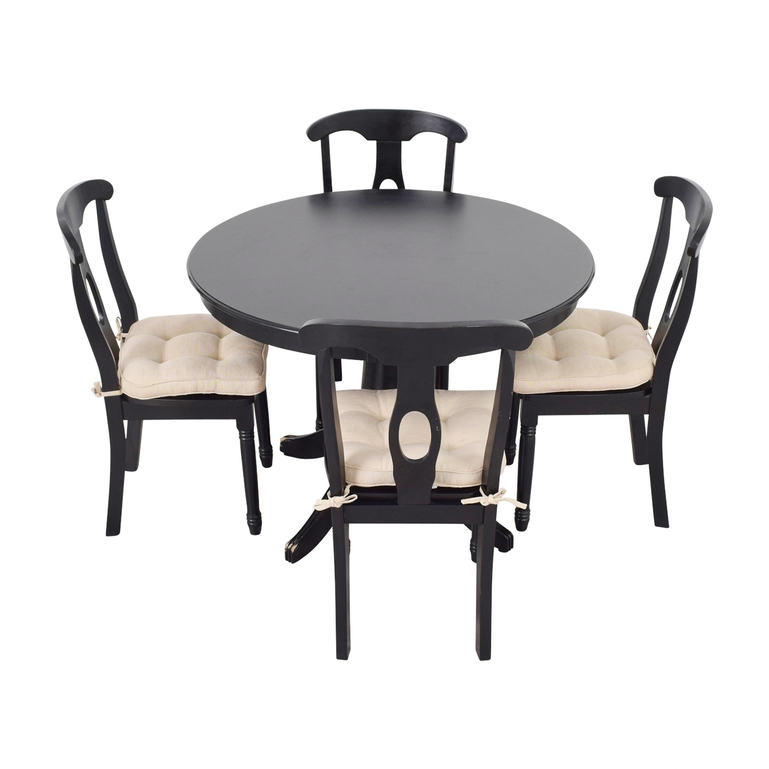 Martha Stewart Dining Set With Beige Upholstered