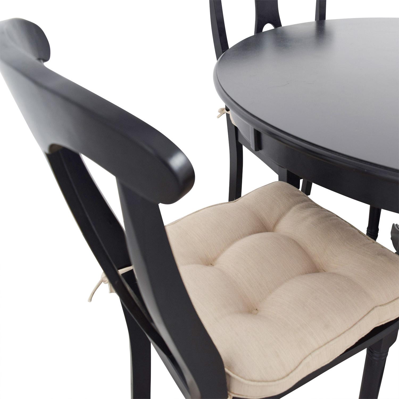 Martha Stewart Martha Stewart Dining Set with Beige Upholstered Chairs second hand