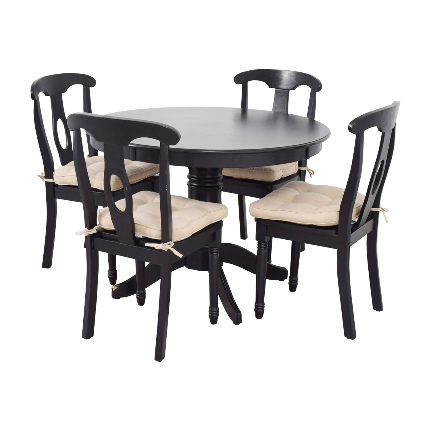 Martha Dining Set With Beige Upholstered Chairs Tables