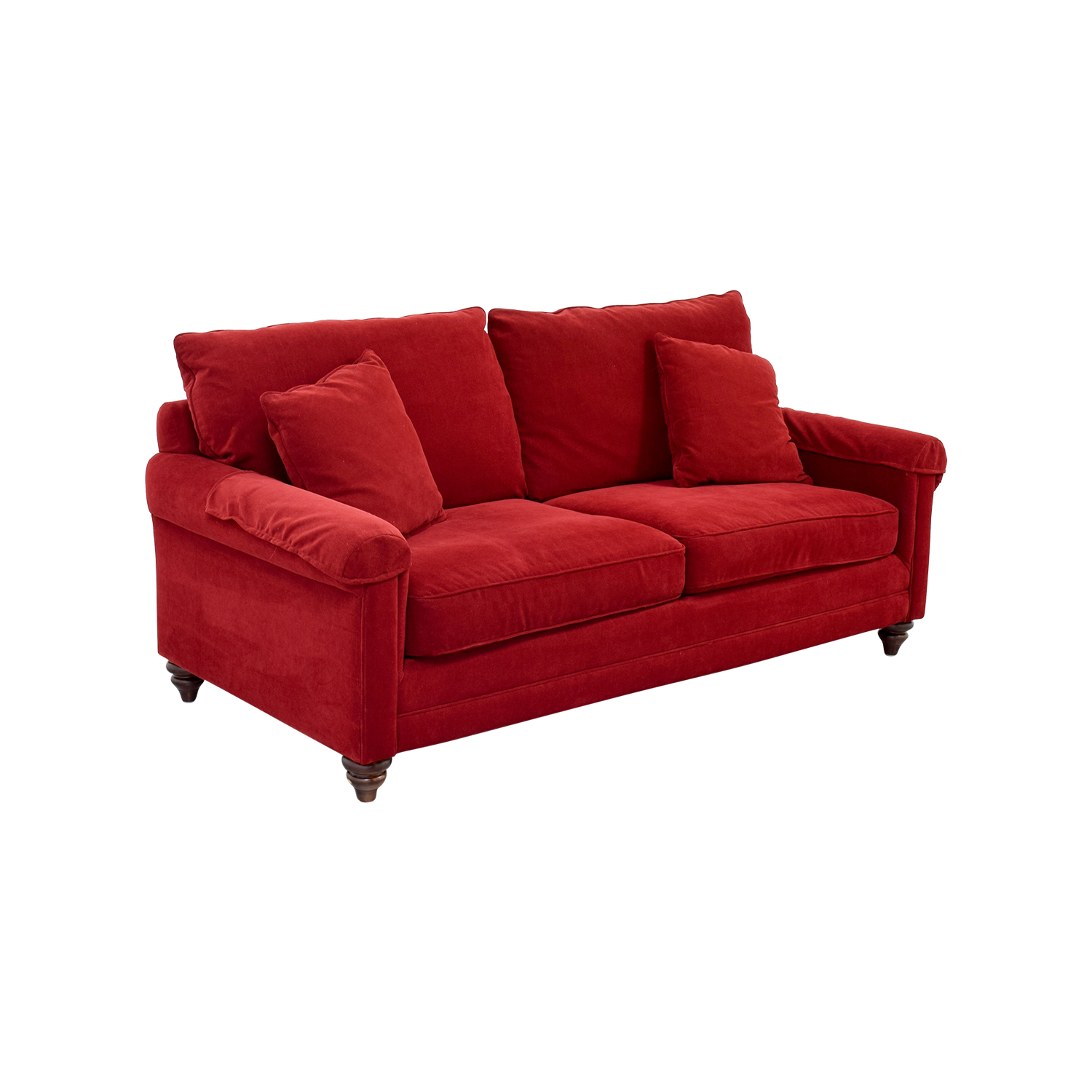 Red curved sofa style sectional sofa curved tos lf 4522 for 2 piece red sectional sofa