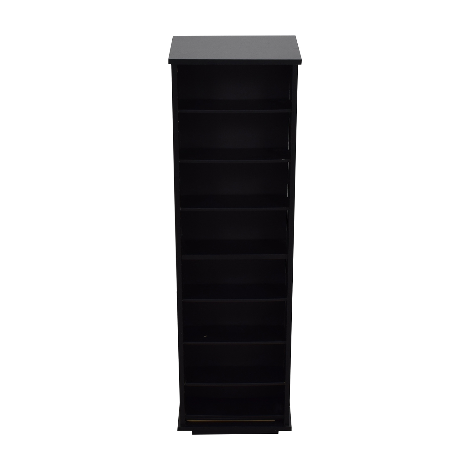 Black CD DVD or Book Tower Bookcases & Shelving