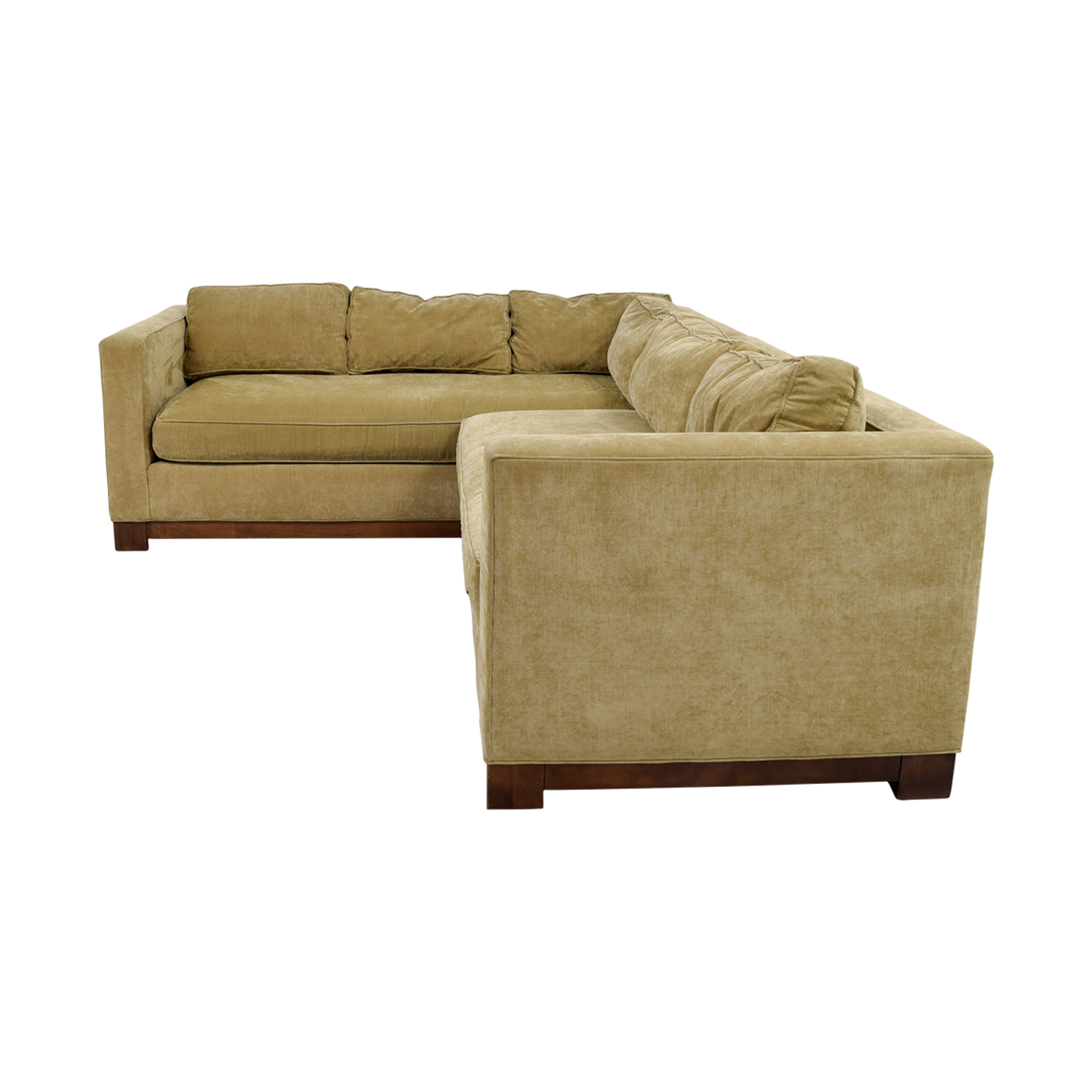 Mitchell Gold + Bob Williams Gold Sectional / Sofas