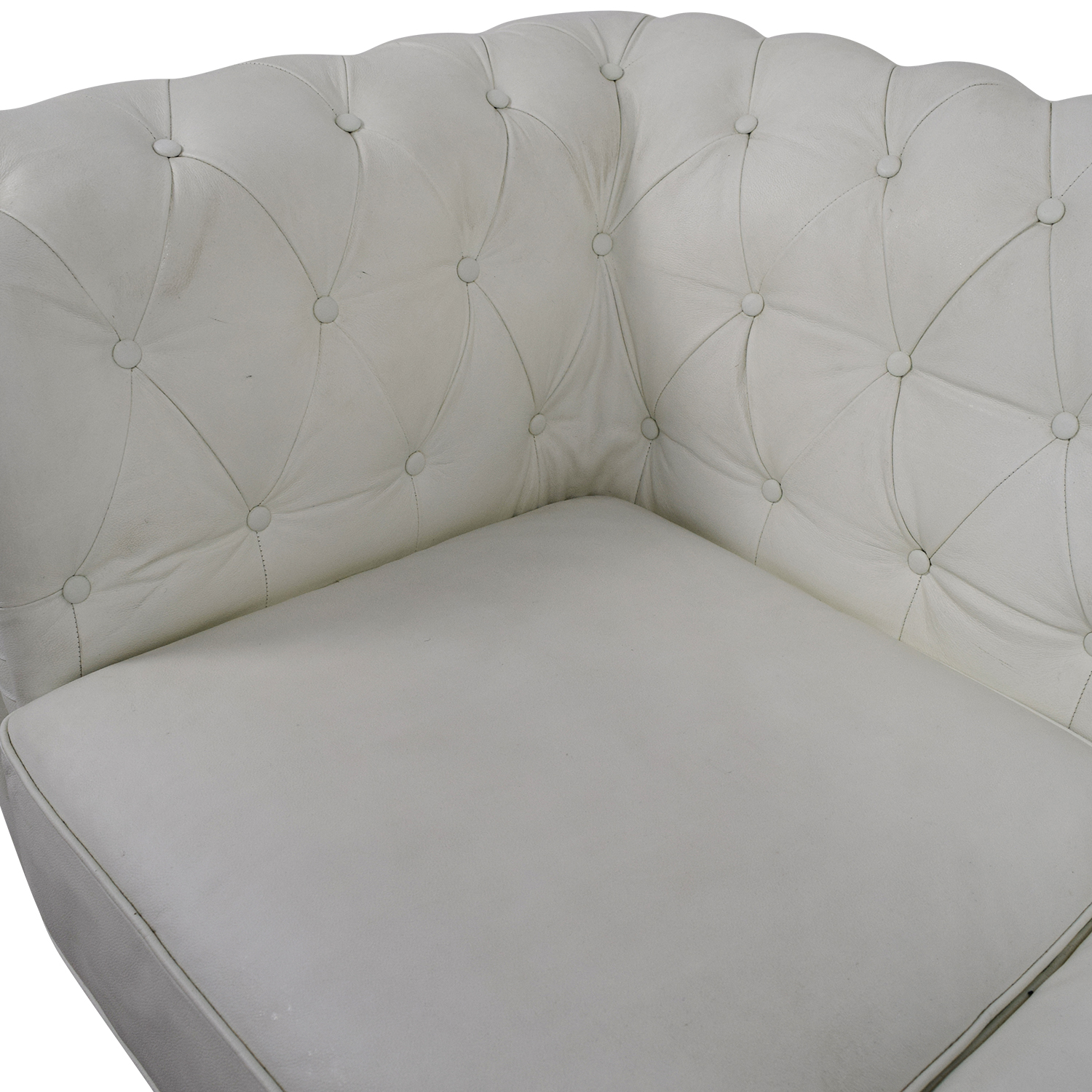 ... Buy Chesterfield White Tufted Leather Sofa Classic Sofas ...