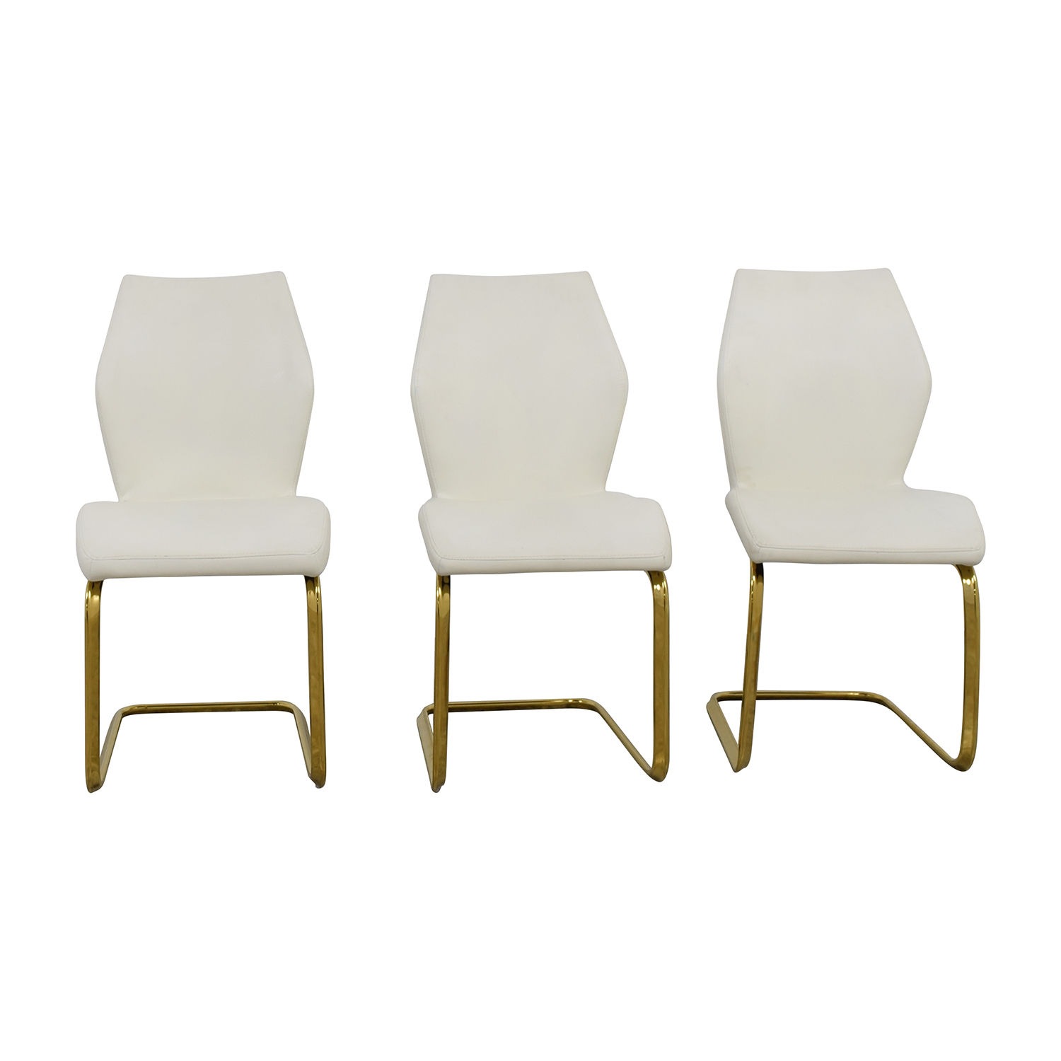 Chairs used chairs for sale for White leather dining chairs