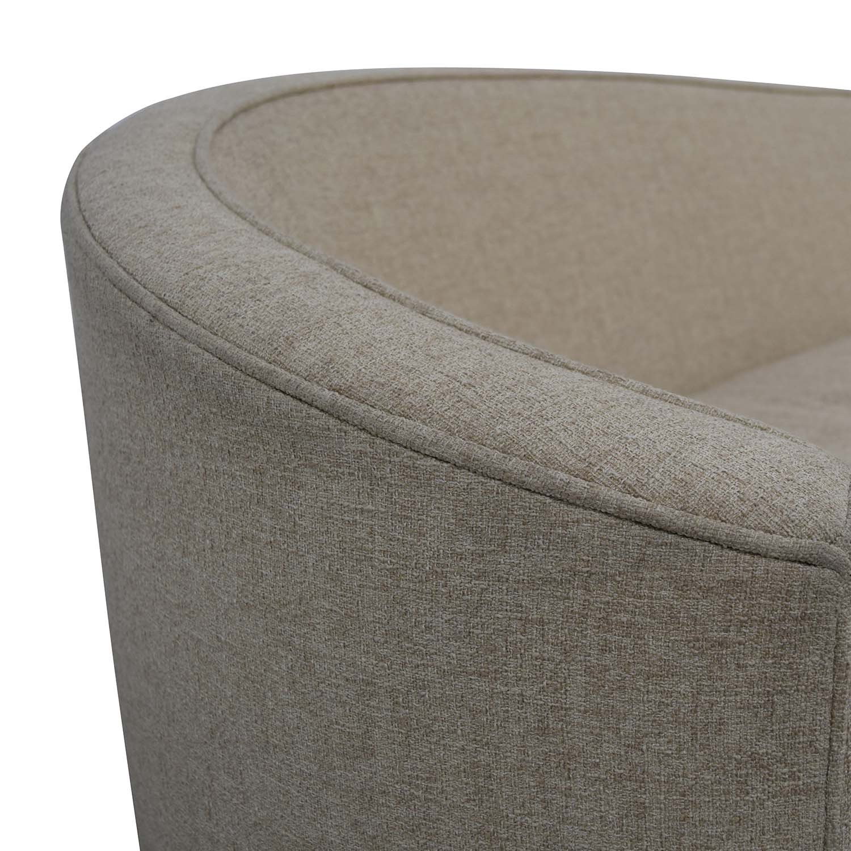 76 Off Bernhardt Bernhardt Callista Tan Curved Sofa Sofas