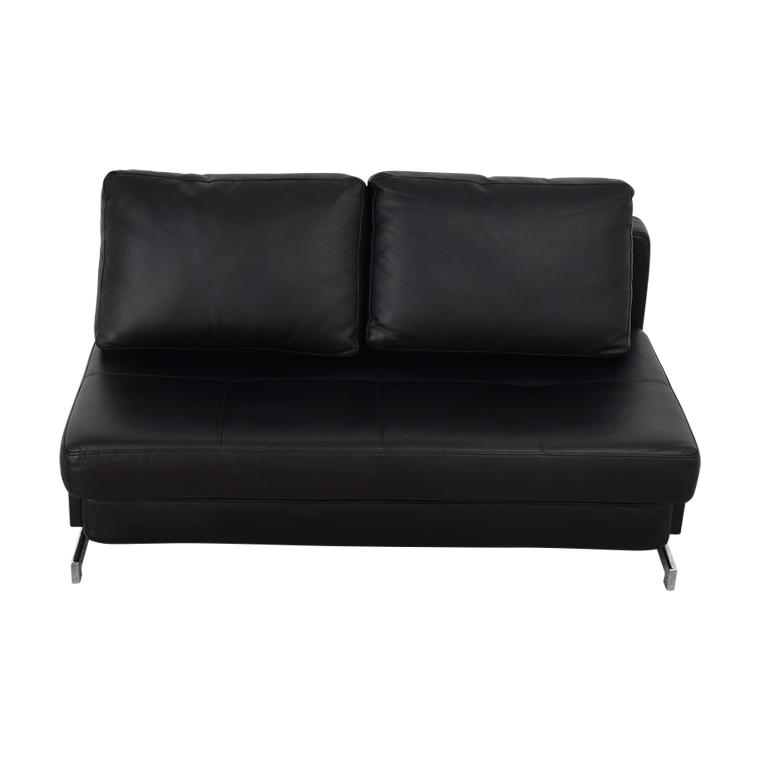 I DO Furniture I DO Furniture Black Armless Loveseat Sleeper used