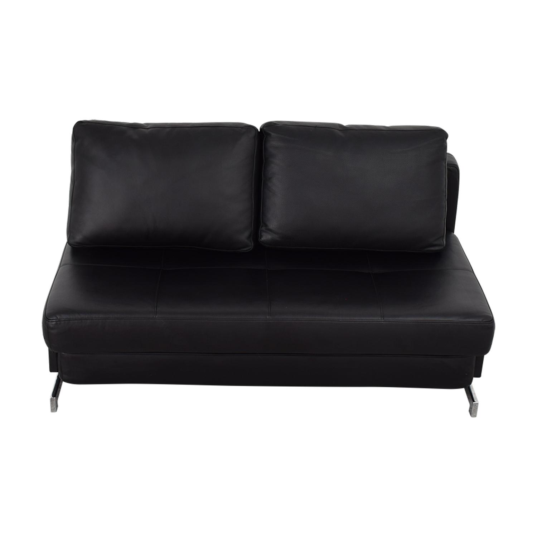 88% OFF - J&M Furniture I DO Furniture Black Armless Loveseat ...