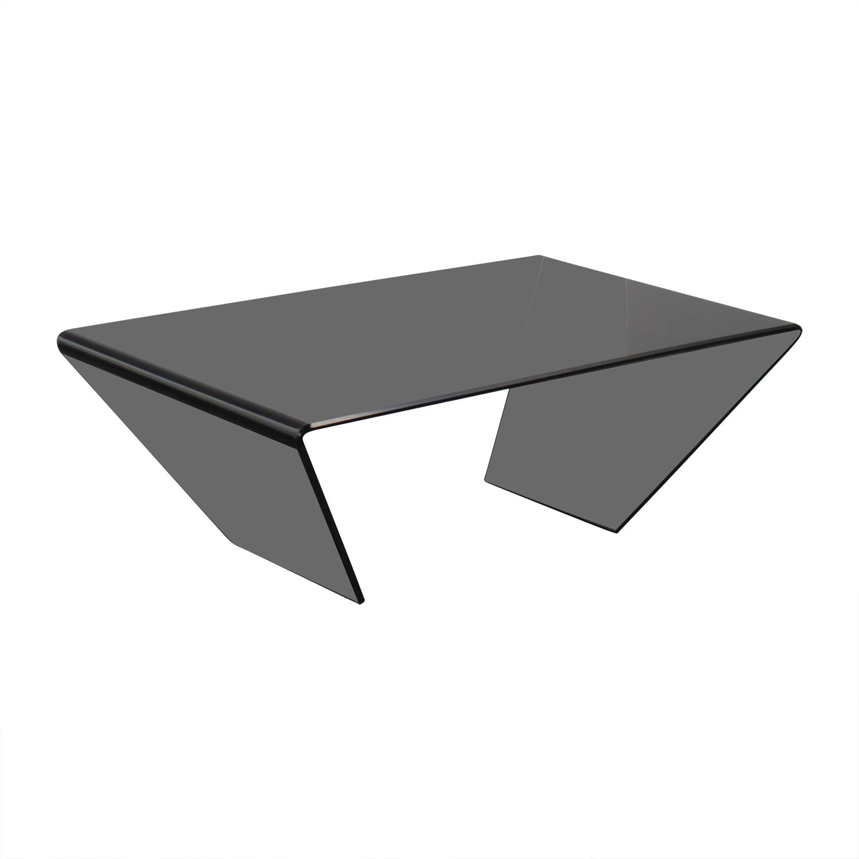 54% OFF J & M Furniture J & M Furniture Bent Black Glass Coffee
