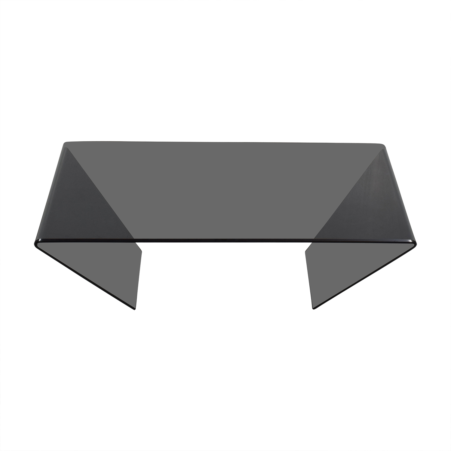 J & M Furniture J & M Furniture Bent Black Glass Coffee Table for sale