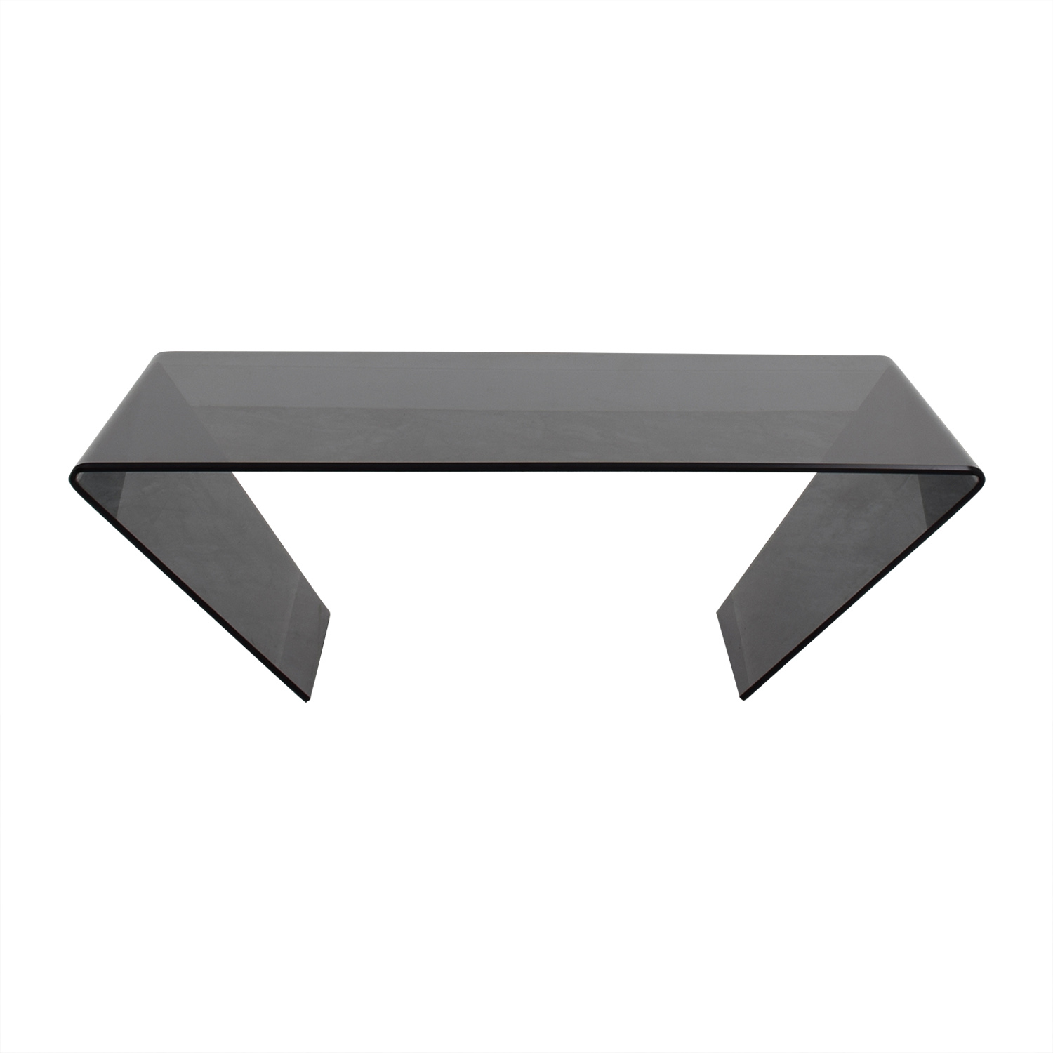 J & M Furniture J & M Furniture Bent Black Glass Coffee Table