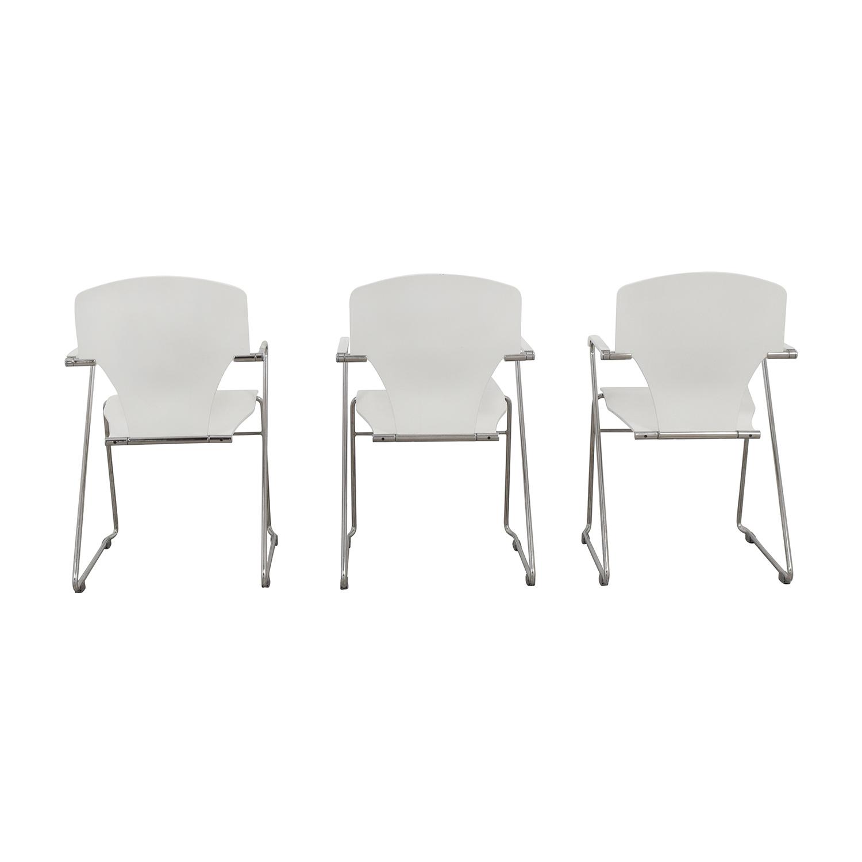 Stua Stua Egoa White Dining Chairs nj