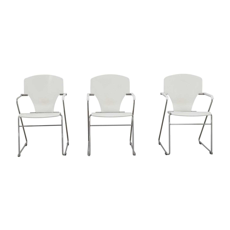 Stua Stua Egoa White Dining Chairs second hand