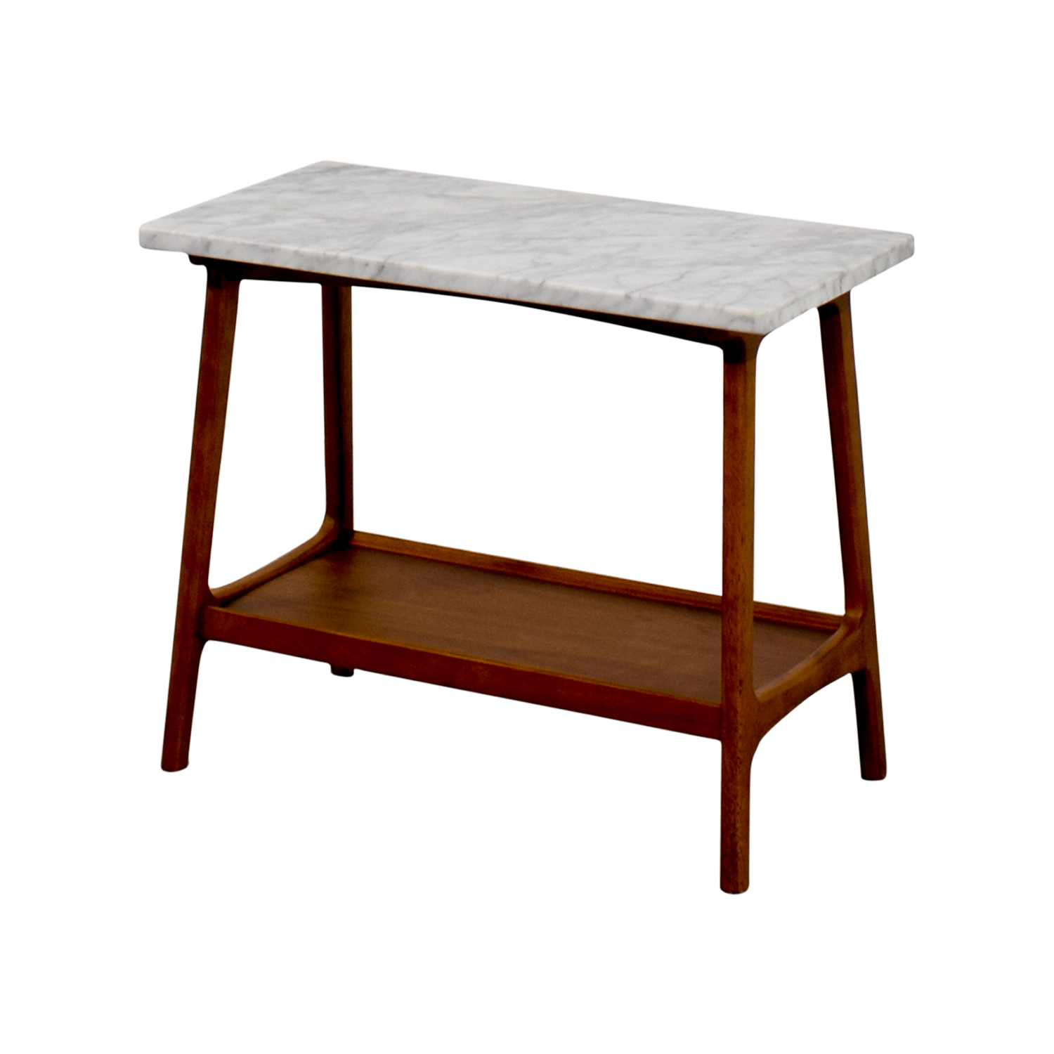 West Elm Reeve Marble Walnut Side Table End Tables