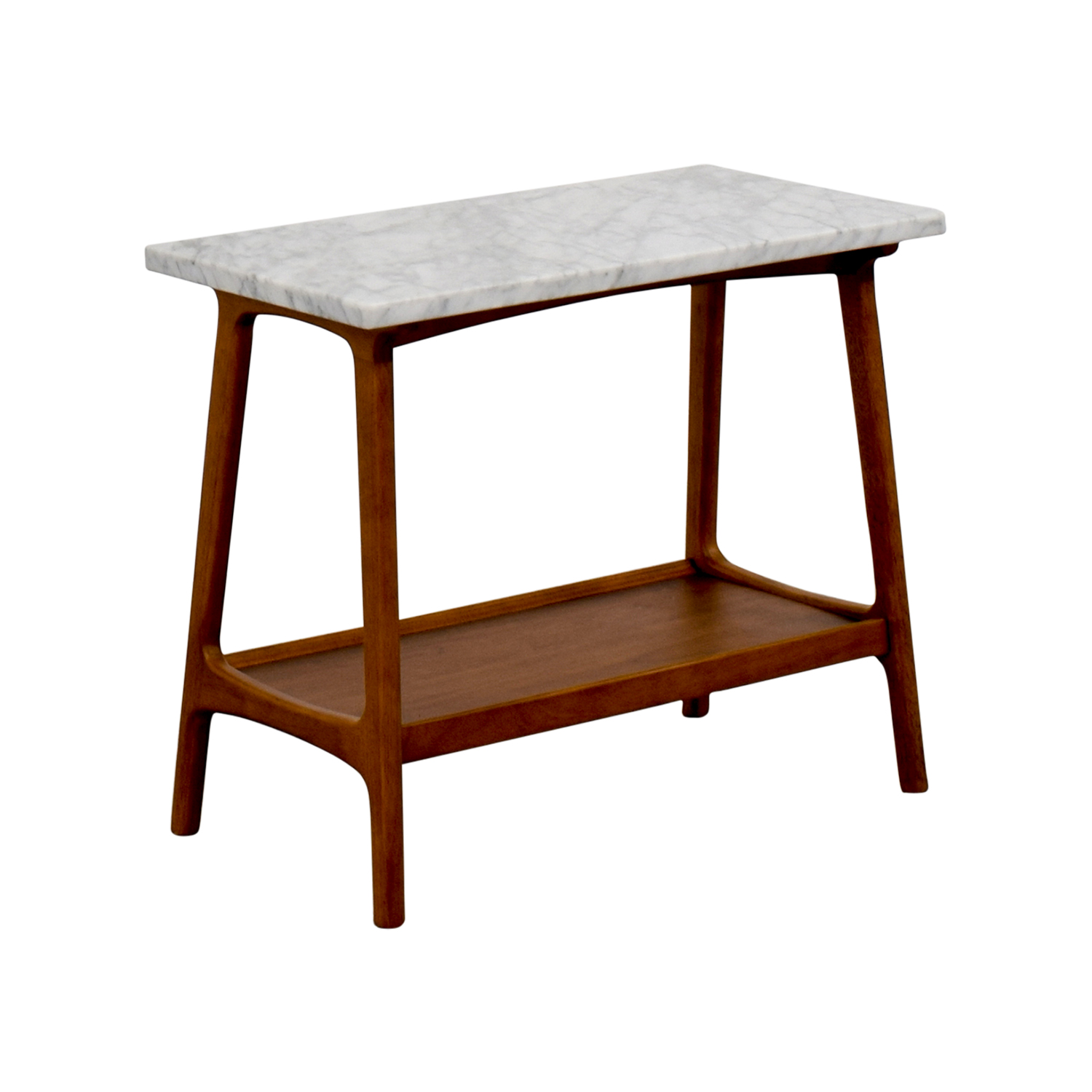 best service d3a36 68cd9 57% OFF - West Elm West Elm Reeve Marble & Walnut Side Table / Tables