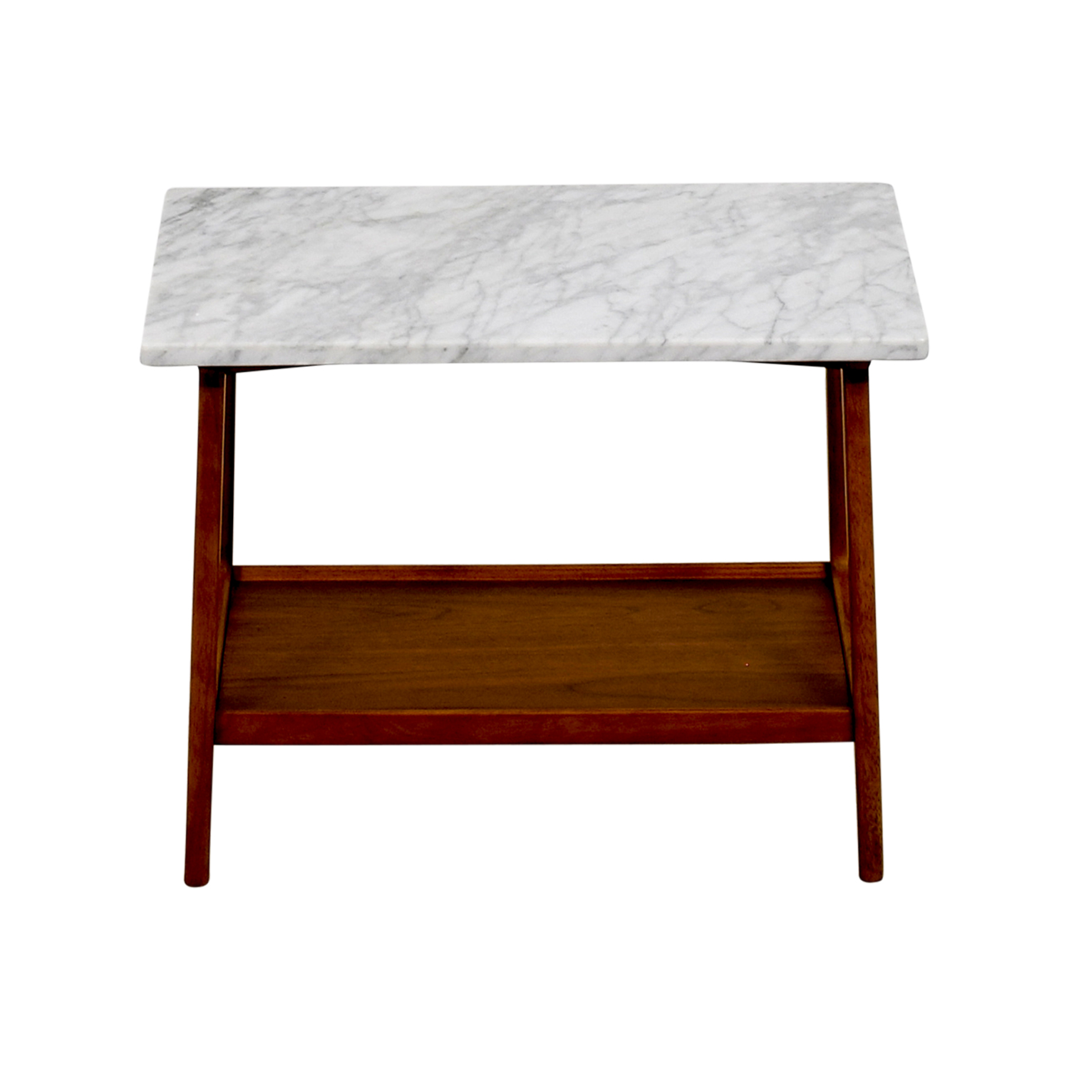 57% OFF West Elm West Elm Reeve Marble & Walnut Side Table Tables