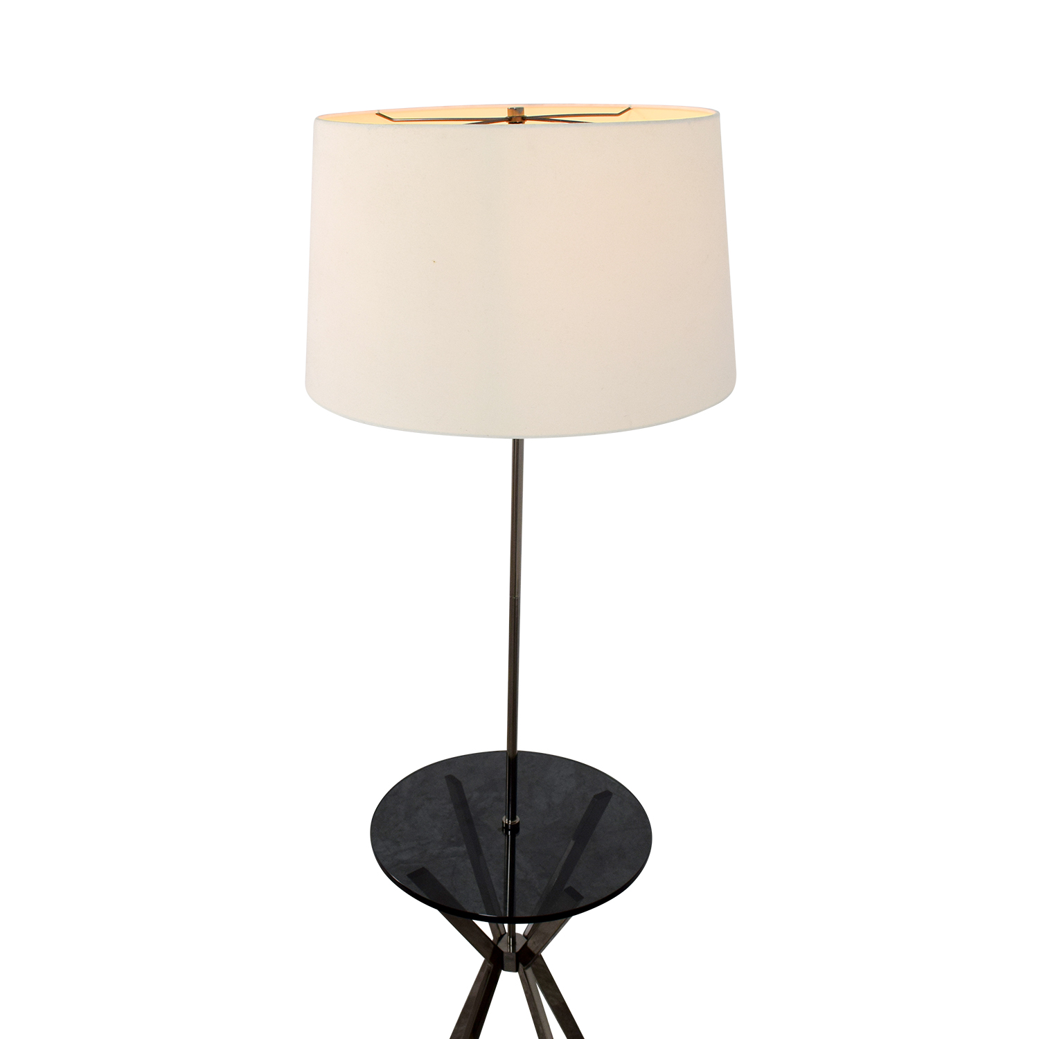 59 Off West Elm West Elm Floor Lamp With Table Attached Decor