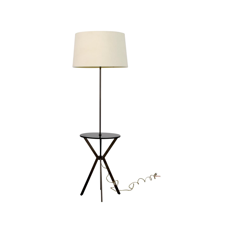shop West Elm Floor Lamp with Table Attached West Elm Decor
