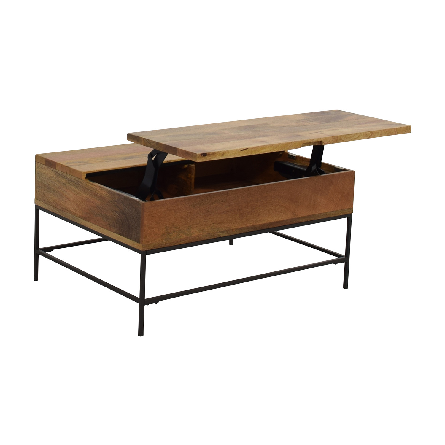 63 off west elm west elm industrial storage coffee for Coffee tables industrial