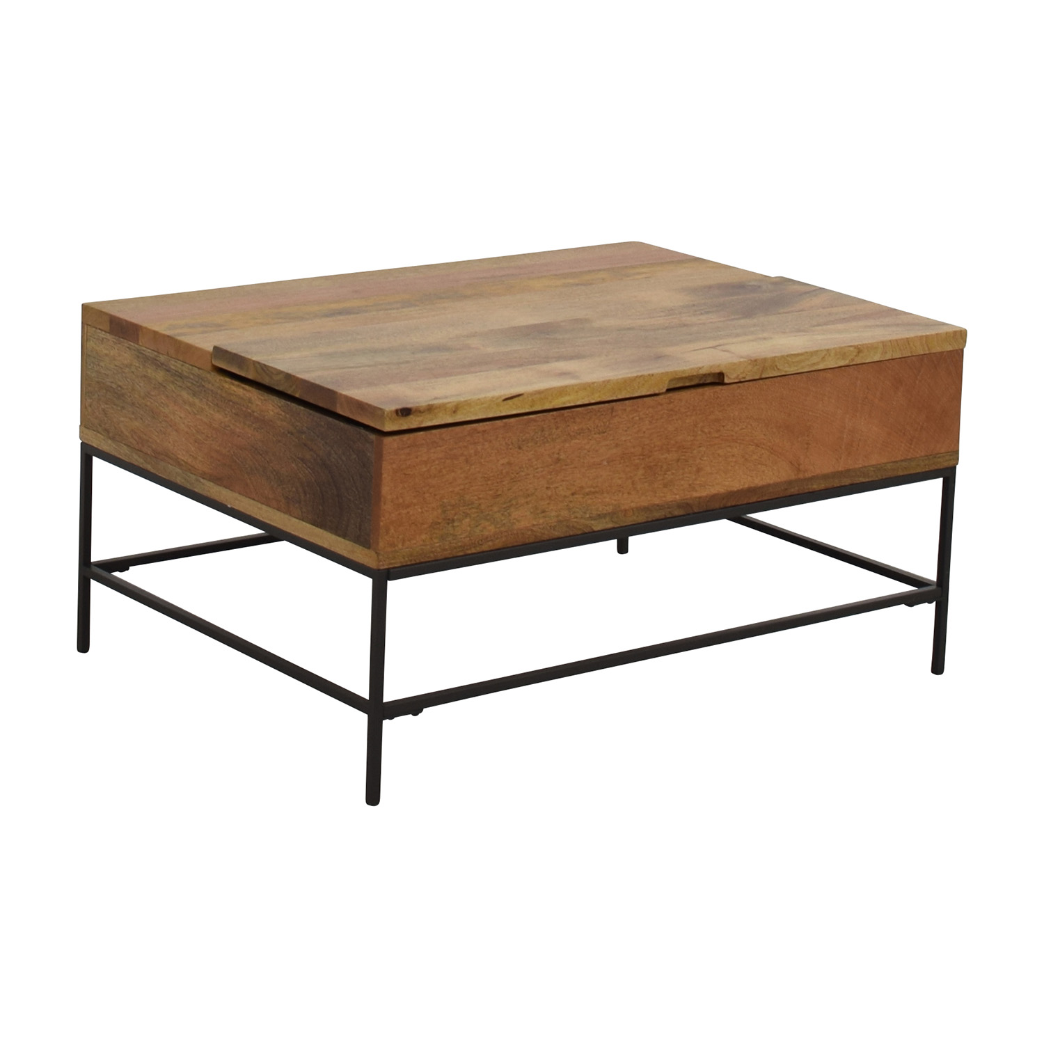 63% OFF West Elm West Elm Industrial Storage Coffee Table Tables