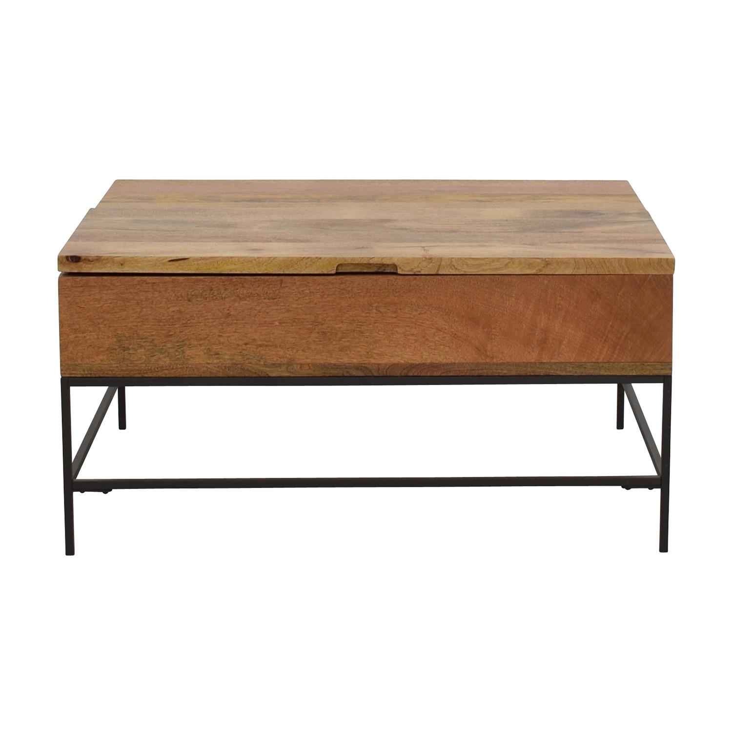 Peachy 63 Off West Elm West Elm Industrial Storage Coffee Table Tables Caraccident5 Cool Chair Designs And Ideas Caraccident5Info