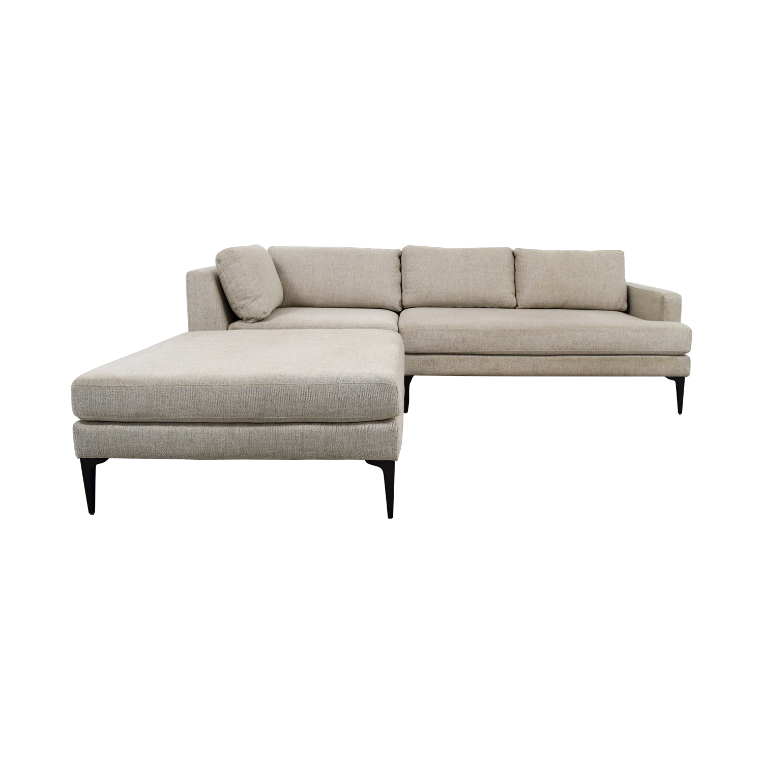 Cool 42 Off West Elm West Elm Andes Terminal Chaise Sectional Couch Sofas Alphanode Cool Chair Designs And Ideas Alphanodeonline