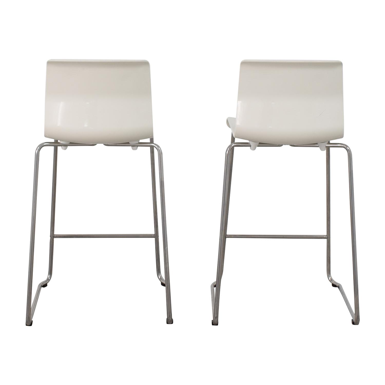 Cool 85 Off Ikea Ikea White Glen Bar Stools Chairs Theyellowbook Wood Chair Design Ideas Theyellowbookinfo