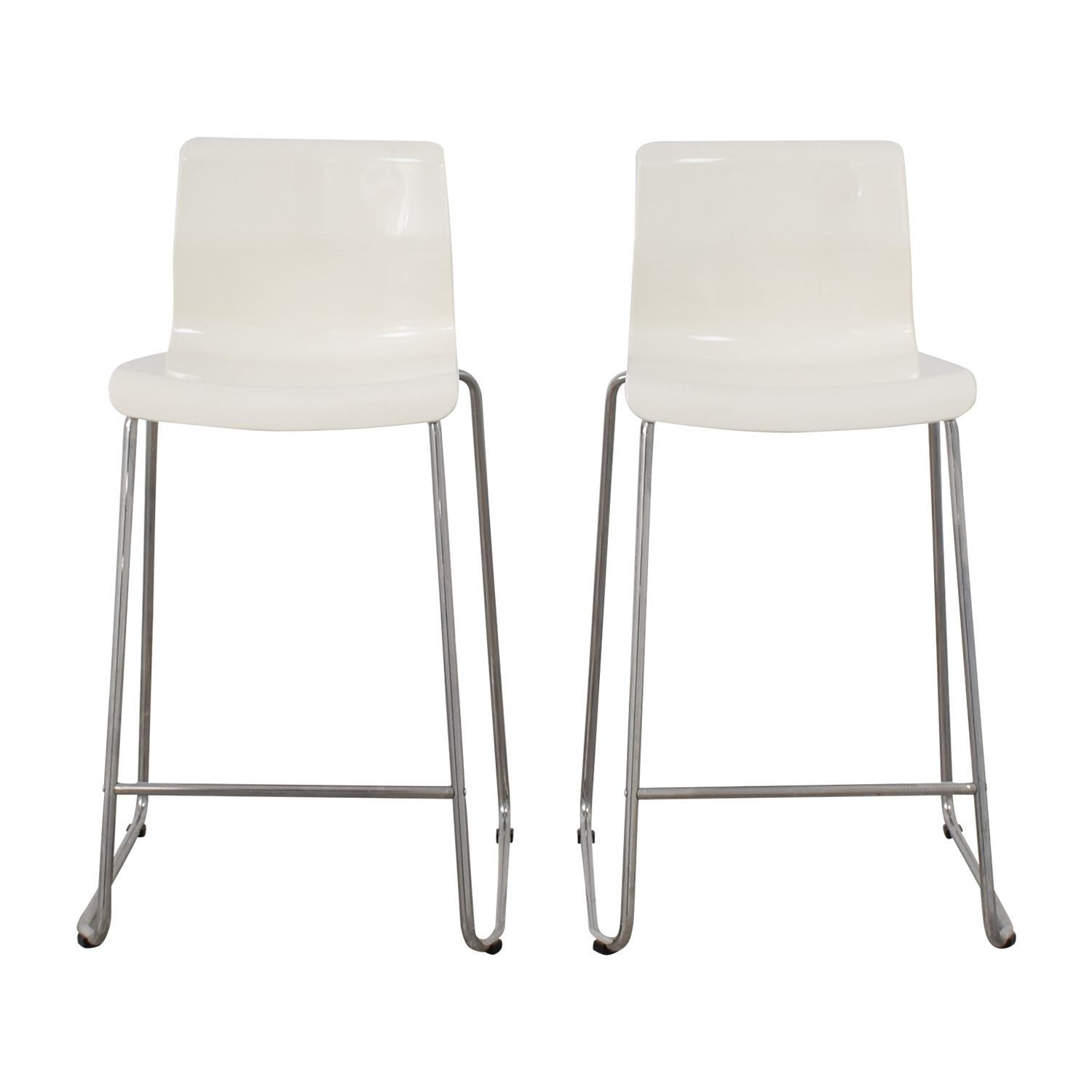 white bar stools ikea 85% OFF   IKEA IKEA White Glen Bar Stools / Chairs white bar stools ikea