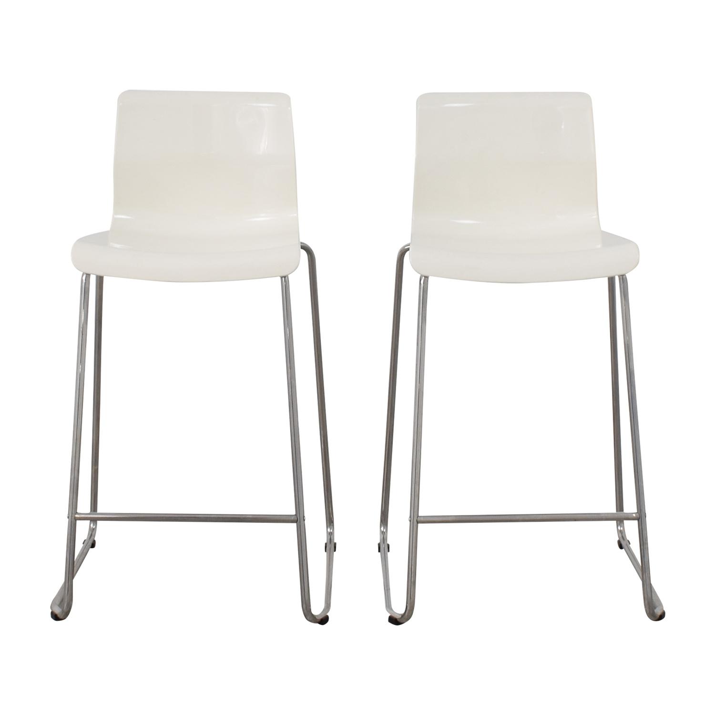 85 Off Ikea Ikea White Glen Bar Stools Chairs