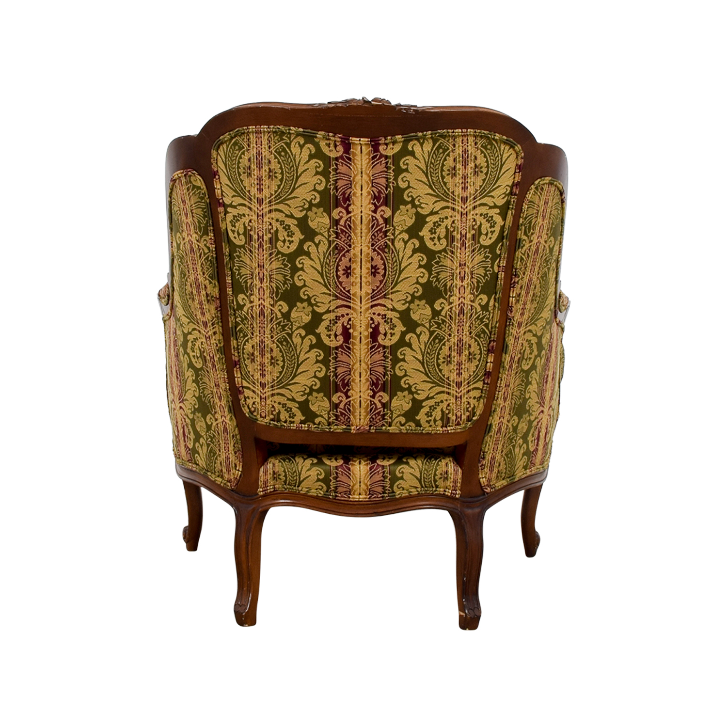 shop Drexel Heritage Bergere Green Gold and Burgundy Chair Drexel Heritage Accent Chairs
