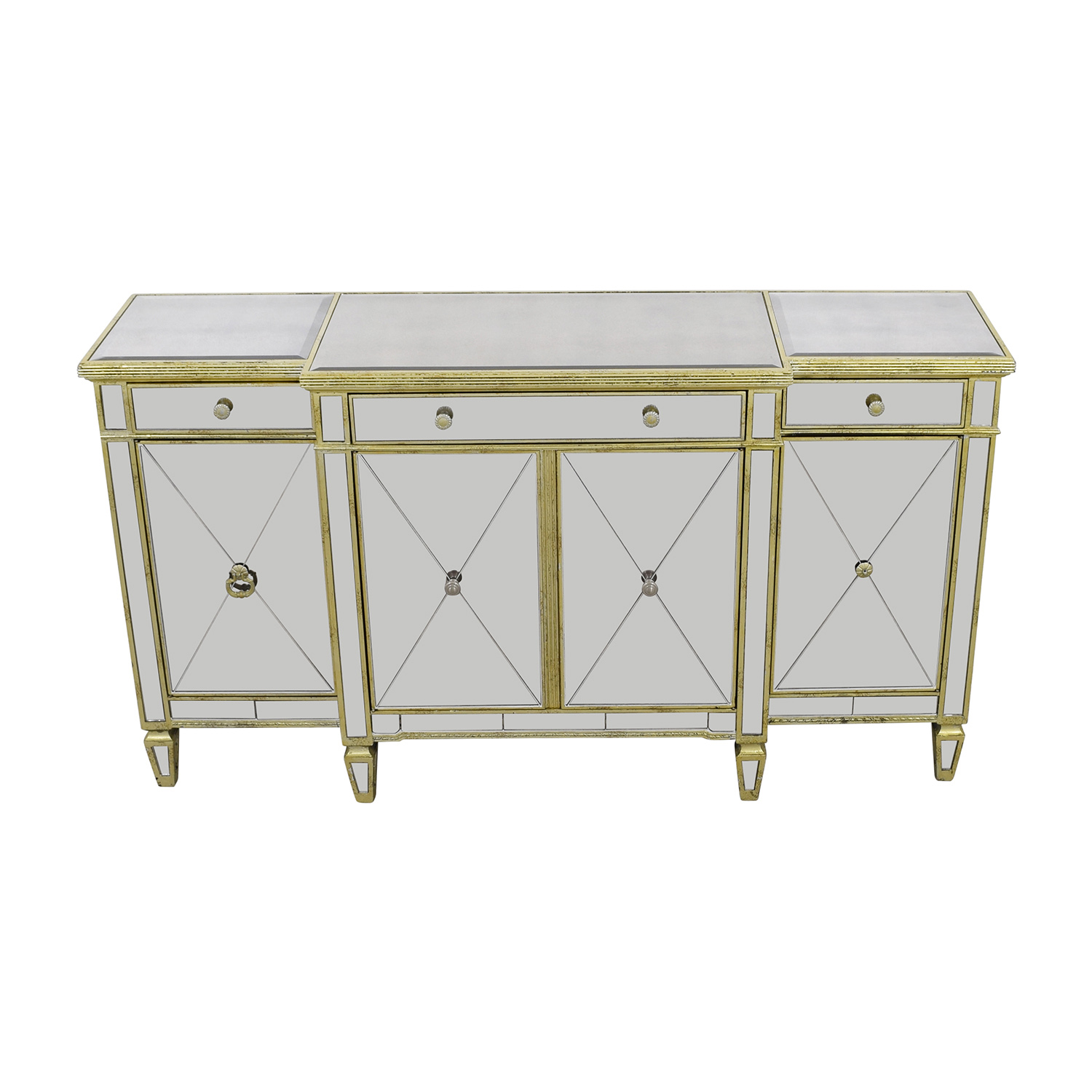Horchow Horchow Amelia Mirror and Gold Console price