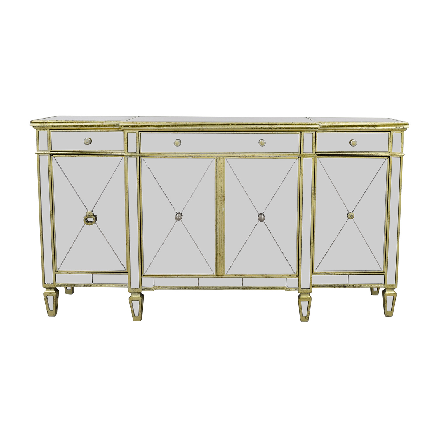shop Horchow Amelia Mirror and Gold Console Horchow