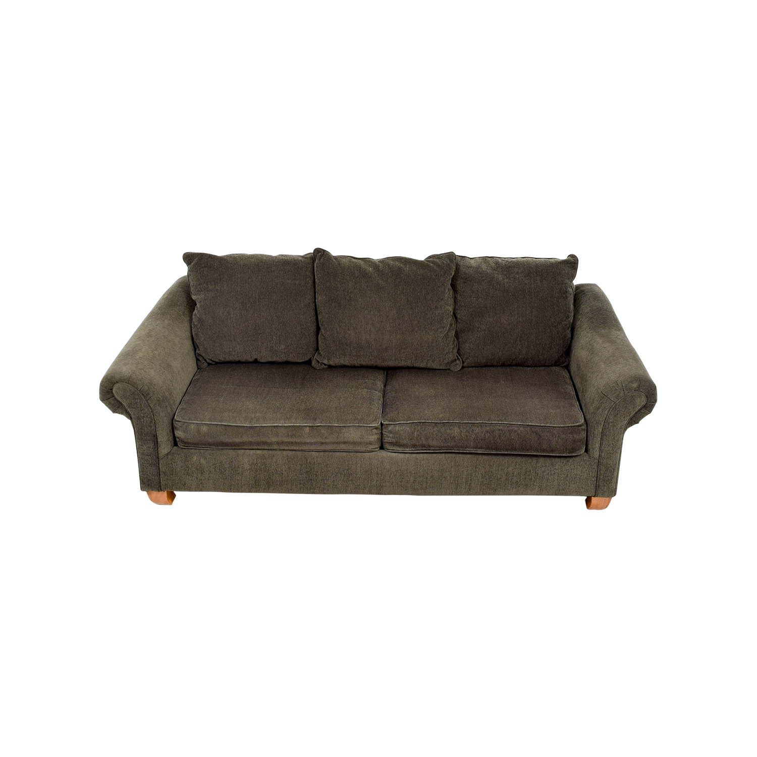 shop Star Furniture Star Furniture Brown Curved Arm Sofa online