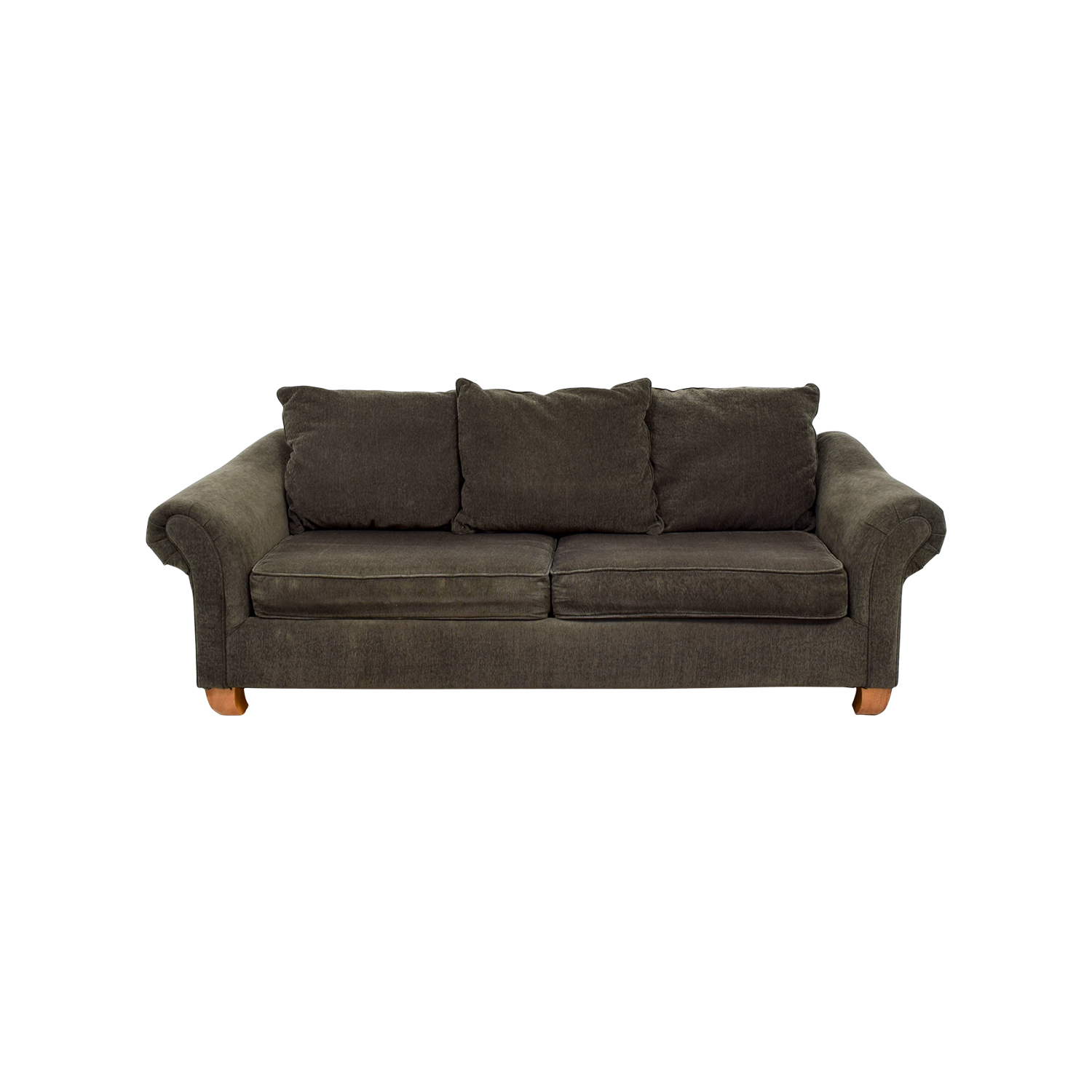 Star Furniture Brown Curved Arm Sofa sale