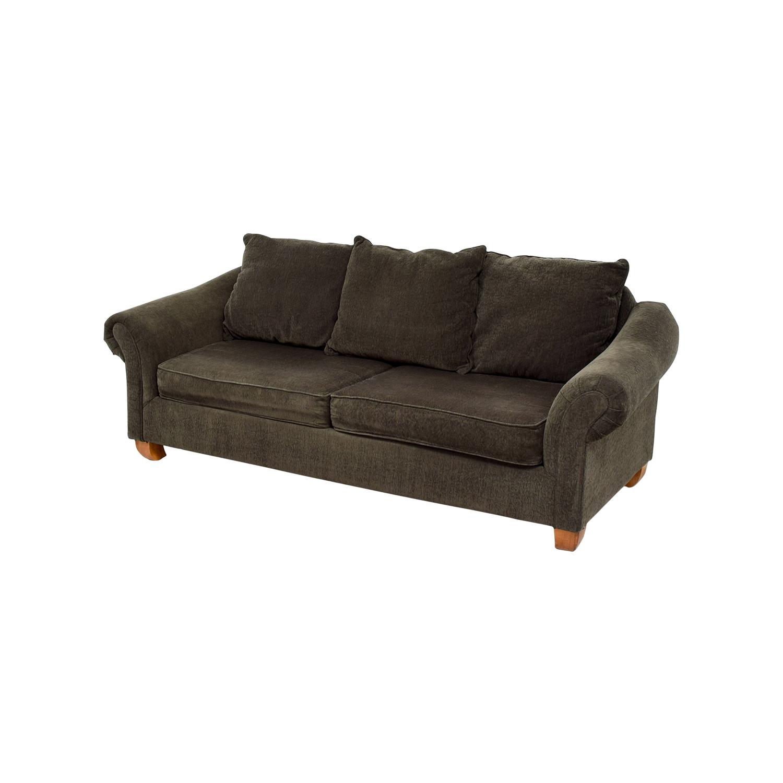 Star Furniture Brown Curved Arm Sofa