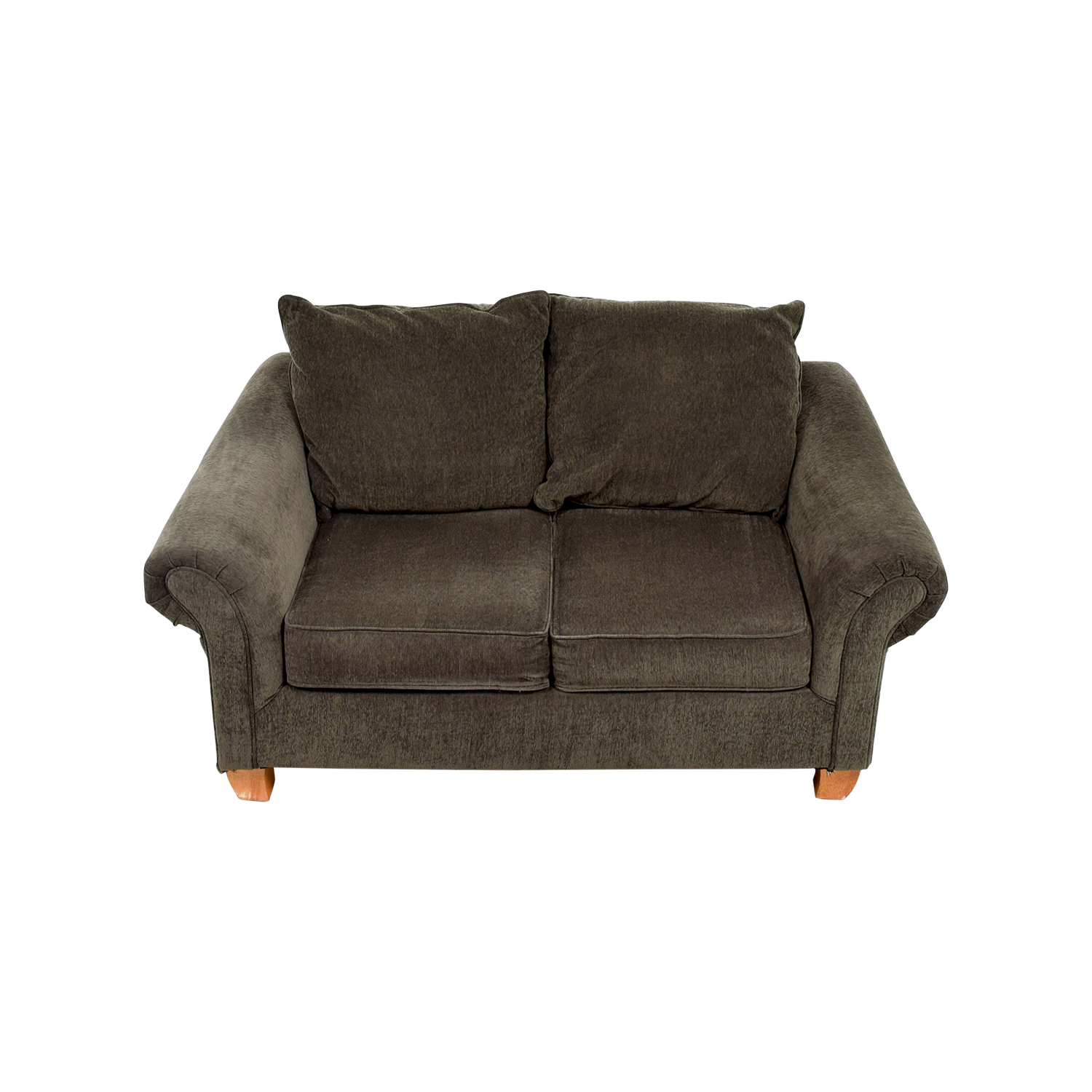 shop Star Furniture Star Furniture Brown Curved Arms Loveseat online