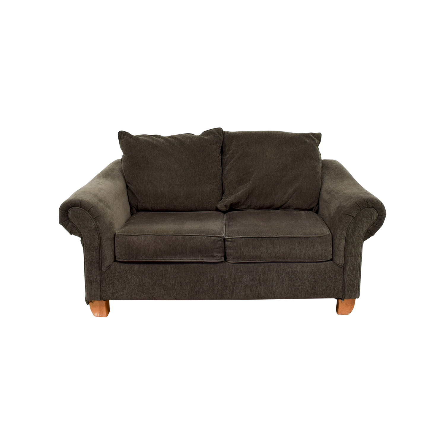 Star Furniture Star Furniture Brown Curved Arms Loveseat dimensions