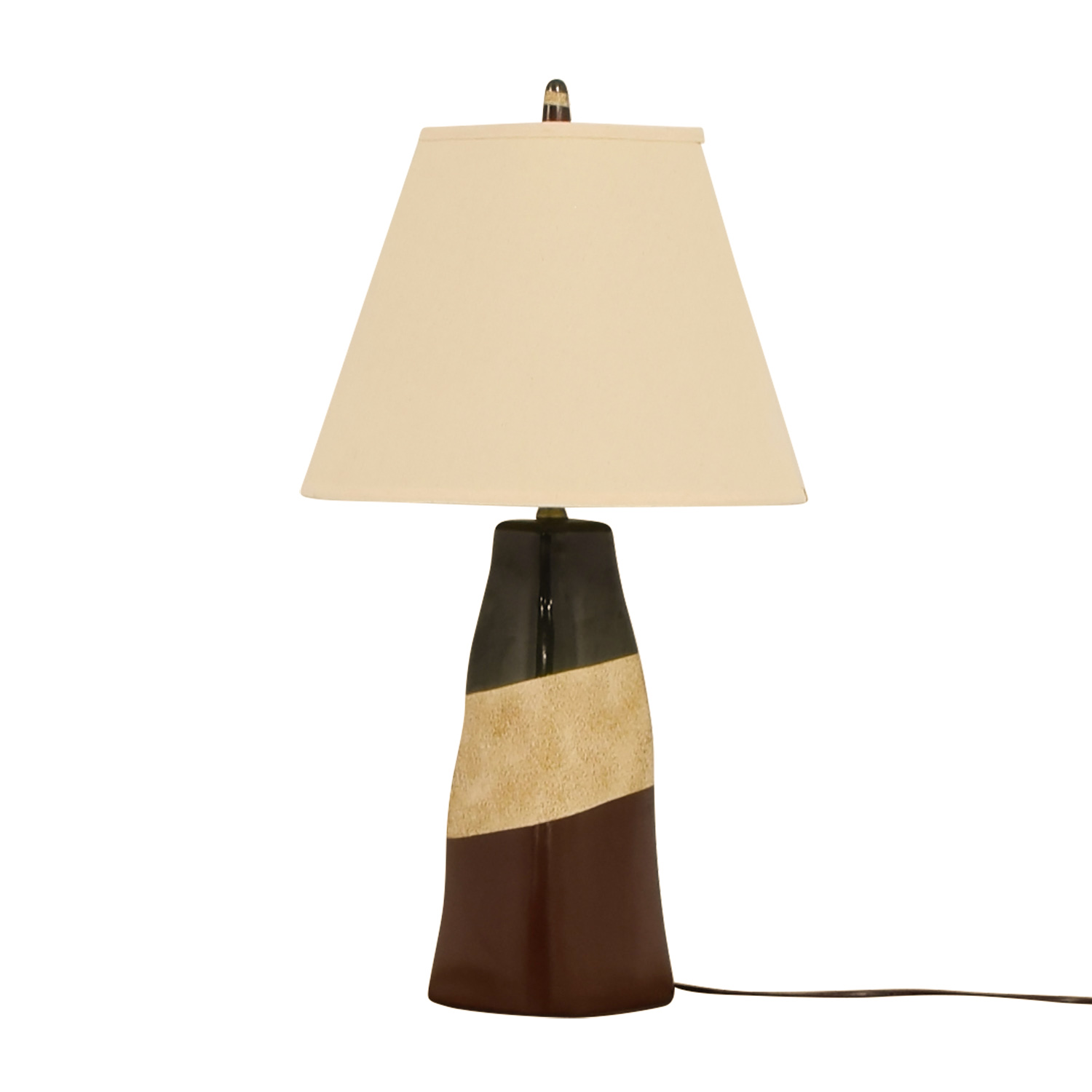 Brown Green and Beige Ceramic Table Lamp