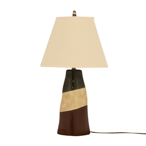 Brown Green and Beige Ceramic Table Lamp price