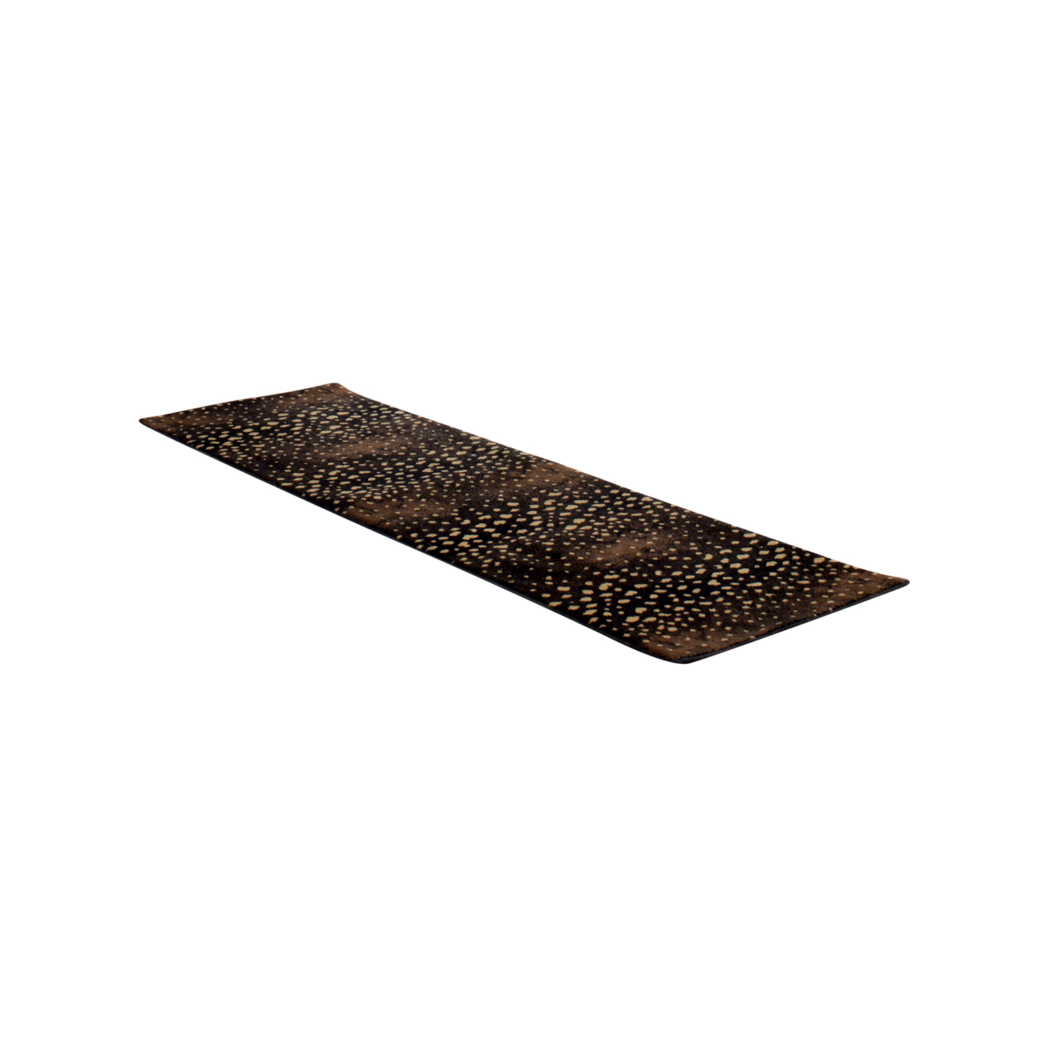 Black Beige and Brown Runner Rug Rugs